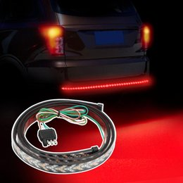 led bar signal car NZ - LEEPEE 12V Flexible Turn Signal Strip Lamps Car Tail Light Bar LED Car Rear Trunk Brake Lights Reverse Warning Light