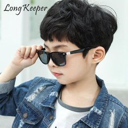kids fashion sunglasses wholesale Australia - Cool Boys Girls Kids Sunglasses 2020 Child Fashion Mirrored Coating Colosful Sun glasses Vintage Children Shades UV Protection