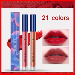 healthy lipstick Canada - CL070 Moisturizing Lip Gloss Lipstick Waterproof Matte Lip Tint Makeup Elegant Red Velvet Lipgloss Healthy Vitamins Cosmetics