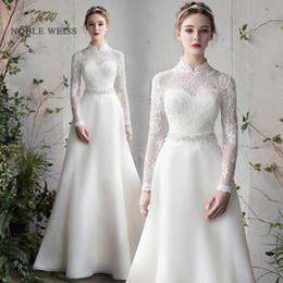 Wholesale silky dresses for sale – plus size Wedding Dress Floor length A Line Organza Wedding Dresses Vestido De Noiva Simple Silky Organza Wedding Dress