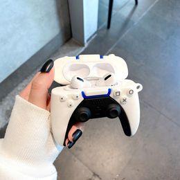 LOVYY PS5 Kontroler Gra Styl ochronny Case dla Airpods 1 2 Pro Gamepad Mold Silikonowe Pods Powietrza Pro Case Miękkie Silikon Bezprzewodowy Bezprzewodowy Słuchawki Bluetooth Ochrona Cover