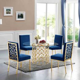Luxury Vintage Design Industrial нержавеющей стали Современная мебель для столовой Chrome Готовые Leg Top Glass Обеденный стол 6 SEATER на Распродаже