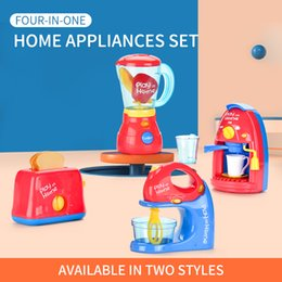 toys cooking UK - 2020 Educational Role Play Kitchen Cooking Set Household Appliance 3 in 1 Electric Toy for Baby Gift