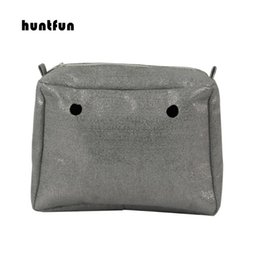 waterproof fabric lining UK - 2020 New Obag style Gilding Canvas Fabric Waterproof Inner Pocket Insert Lining for huntfun EVA square Bag women handbag