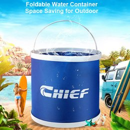 9L Car Washing Water Containers Collapsible Bucket Foldable Folding Tank Outdoor Water Container Portable Car Wash Buckets on Sale