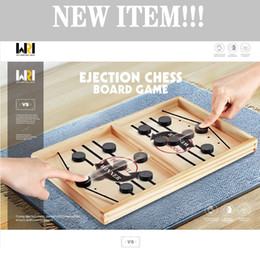 Children entertainment wooden table football portable new slingshot board game toy gift both boy and girl on Sale