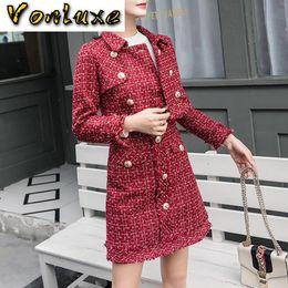 Wholesale tweed skirts for sale - Group buy Suits Women Runway Designer Elegant Office Lady Formal Tweed Red Blazer Jacket Mini Skirt Piece Sets Autumn Winter