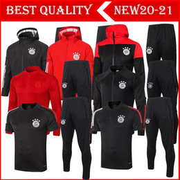 Vente en gros 20 21 21 Bayern Munich Soccer Tracksuit Survèrent Football James Vestes 2020 2021 Vidal Lewandowski Muller Hoodie Jacket Costume d'entraînement