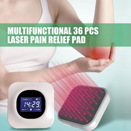 Wholesale laser neck resale online - LASTEK Diodes Pain Relief Treatment Pad Multi Use Lower Upper Back Neck Pain Sprains Sports Injuries LLLT nm Laser Therapy Device