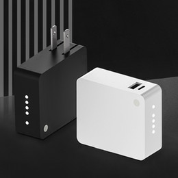 Wholesale bank adapters resale online - 3 in USB Charger Power Adapter Power Bank Qi Wireless charger Dual Port Output usb a usb c