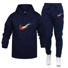 Wholesale men sports set resale online – Free New Mens Designers Tracksuits Autumn Brands women sweatsuits Jogger men hoodie mens joggers Pants Sets Sporting Suit