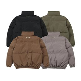 Wholesale stand collar men for sale – winter 2020fwss Winter Down Jacket Men Women Stand Collar Coats Outerwear Male Clothes