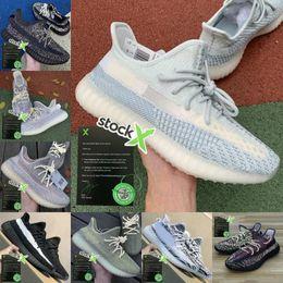Продажа 2020 Kanye West Zebra обувь Earth Desert Sage Шлак Zyon белье Tail Light льняное Gid Black Reflective государство 3M Yecheil Мужчины Женщины Trainer на Распродаже