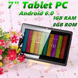 android q88 tablet 2020 - 7 inch A33 Quad Core Tablet PC Q8 Allwinner Android 6.0 Capacitive 1.5GHz 1GB RAM 8GB ROM WIFI Bluetooth Dual Camera Fla