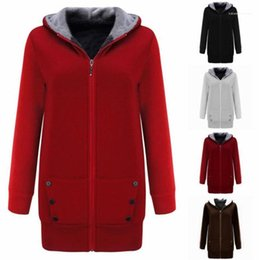 Sólido Designer Estilo longo de lã fêmeas roupa colorida Womens Hoodies longo Style Ladies Hooded Cardigan Womens Top