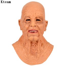 latex for face masks Australia - Men Codger The Old Man Mask Grandpa Cosplay Masks Latex Masques Old Codger Face Mascara Halloween Accessories Props For Women