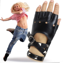 wholesale dance poles Australia - nnAkt Dancing leather leather ladies cool punk spring summer nightclub Gloves and gloves performance pole dance Lady Ga fashion hand