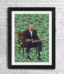 Wholesale Wiley Works Wall Art 16 47 Obama Pictures Decor Unframe Portraits Home 36 Barack Kehinde Print Canvas Obama The 24 Poster Decor Art bbyqR
