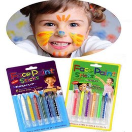 face body painting colors Australia - 6 Colors Face Painting Crayon Pencils Splicing Structure Face Paint Crayon Body Painting Pen Stick For Children Party Makeup