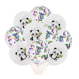 Wholesale red panda cartoon for sale - Group buy Cartoon Panda Latex Balloon Foil Animal Ball Helium Confetti Ballon For Anniversaire Panda Birthday Party Kids Baby Shower Decor
