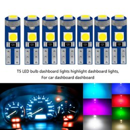 lighting dashboard car UK - 10pcs Set T5 LED Bulb Led Canbus Car Interior Lights Dashboard Warming Indicator Wedge Auto Instrument Lamp Bulb 7 Colors
