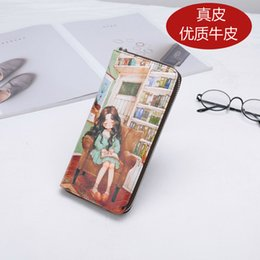Luxurys Designers Bags 2020 New Style Printed Cartoon Fashion Leather Wallet Female Bright Colors