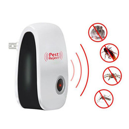 electronic spider repeller UK - Electronic Ultrasonic Anti Mosquito Insect Repeller Rat Mouse Cockroach Spiders Pest Reject Repellent Pest Control EU US UK Plug DBC HHA139