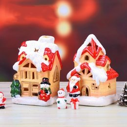 unique gifts toys Australia - Hollow Decoration Houses Christmas Landscape Micro Cute Unique with Snow Cover Wooden Mini House Toys for Children Gift At20 0pxo