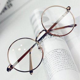 oculos grau feminino 2020 - Wholesale- ANEWISH Vintage Eyewear Glasses Frame Women Round Metal Optical Reading Eyeglasses Frame Men oculos feminino
