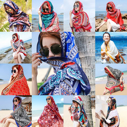 Summer Cotton Linen Ethnic Silk Scarf Travel Sunscreen Big Scarves Sea Beach Towel Female Thin Shawl Wholesale on Sale