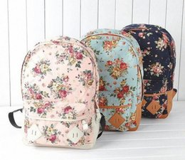 2015 Hot Fashion Canvas Backpack Flower Design Fashion Travelling Bag Schoolbag,Army Backpack Water Backpack From , $16.38| DHgate.Com CxB8#