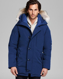 Wholesale big hooded jacket mens for sale - Group buy 2020 Canadian Mens Veste Homme Outdoor Winter Jassen Outerwear Big Fur Hooded Fourrure Manteau Down Jacket Coat Hiver Parka Canada Doudoune