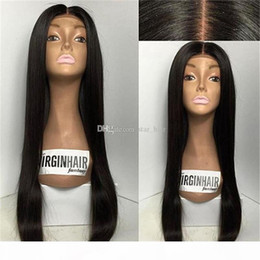 front lace wig ponytail UK - Unprocessed Virgin Full Lace Wigs Human Hair With Baby Hair 8A Bleached Knots Lace Front Ponytail Wigs Braziian Virgin Hair Wig For Women
