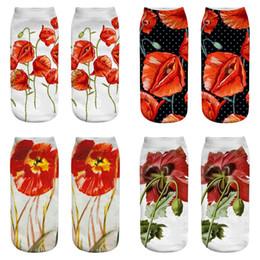 Wholesale floral print socks for sale - Group buy INS Girls Boat Socks Newest D Printing Floral Women Girls Socks Styles for Big Girls Socks M2827