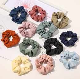 Wholesale 22 Colors Sold Well Qiyue 4.3 Inch Sweet Versatile Circle Hair Rope Solid Color Cloth Art Tie Hair Rope Korean Hair Acce