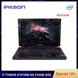intel gaming laptop UK - IPASON intel i7 7700HQ GTX1060 6G 15.6 inch IPS Gaming Laptop RGB 8GB 16GB RAM DDR4 256GB 512GB SSD Gaming Notebook Computer