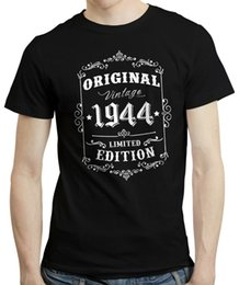 cheap vintage t shirts Australia - 75Th Birthday, Born In 1944 Retro Style Vintage Limited Edition 100% Cotton T-Shirt Men 2019 Summer Cheap Sale T Shirts