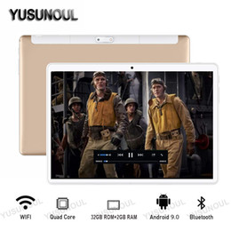 fastest tablet pc 2020 - 2020 Super Fast 10 inch tablet PC Android 9.0 OS 32GB eMMC Storage 2.5D Glass 1280*800 HD WiFi GPS Tablet 64GB Card Gift