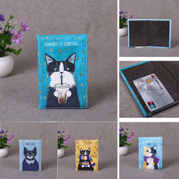 cute travel accessories Australia - 4 Colors Cute Cat Animals Travel Accessories Passport Holder PU Leather Travel Passport Cover Case Card ID Holders 14cm*9.6cm