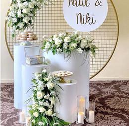 Pilares bolo mesa Sobremesa Mesa Redonda Cilindro Pedestal exibição Art Decor Rodapé para DIY casamento Decorações do feriado em Promoção