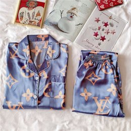 ice silk plus size Australia - Summer Ice Silk Couple Flower Printed Sleepwear Short Sleeve Shorts Sets Satin Silk Thin Pajama Male Female Plus Size Simple Home Wear X9#765