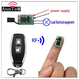12v off remote Australia - Anntem dc3.5V7v 9v 12v RF wireless remote contro 433mhz Lithium battery power outlet on off Mini small switch Module Controller