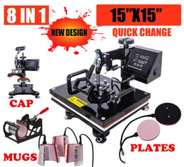 Wholesale transfer for shirts for sale - Group buy 38x38 New Design In Combo Heat Press Machine Sublimation Heat Press Heat Transfer Machine For Mug Cap T shirt Phone cases