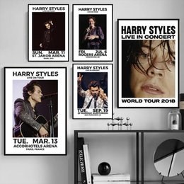 Harry Styles 2018 Posto Music Star Hot Poster and Prints Arte Moderna pintura da lona parede Pictures Para Living Room Home Decor venda por atacado