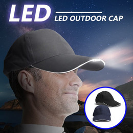 adjustable headlamp NZ - Adjustable Bicycle 5 LED Headlamp Cap Battery Powered Hat With LED Head Light For Fishing Jogging Baseball Cap