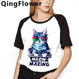 kimono tshirt UK - Cat Cute Anime Harajuku Funny Cartoon t Shirt Women Graphic Kawaii 90s T-shirt Ullzang Korean Style Tshirt Summer Top Tee Female summer top