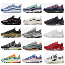Wholesale vintage bullets for sale – custom 2020 Sean Wotherspoon Mens Running shoes Vintage Mosaic game royal Jesus Triple White Black Silver Bullet s Men women sports Sneakers