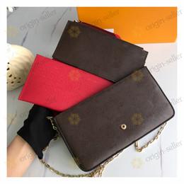 Wholesale ladies velvet suits for sale – designer Original Women Leather Bags Handbags Ladies Handbag Fashion Tote Bag Women s Bags Backpack Ladies Shoulder Bag Three piece suit LE
