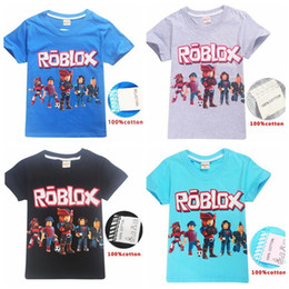 fluorescent tee shirt Australia - Children Cotton Cartoon ROBLOX Print Short Sleeve T Shirt Baby Boys Tops Tee Fashion Summer Kids Girl Clothes Costume