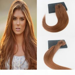 Wholesale High Quality Pure Color #30 Brazjilian Remy Hair 7Pcs 120Gram Clip On Hair Extensions 100% Human Hair